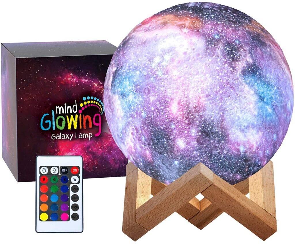 Mind-Glowing galaxy moon lamp